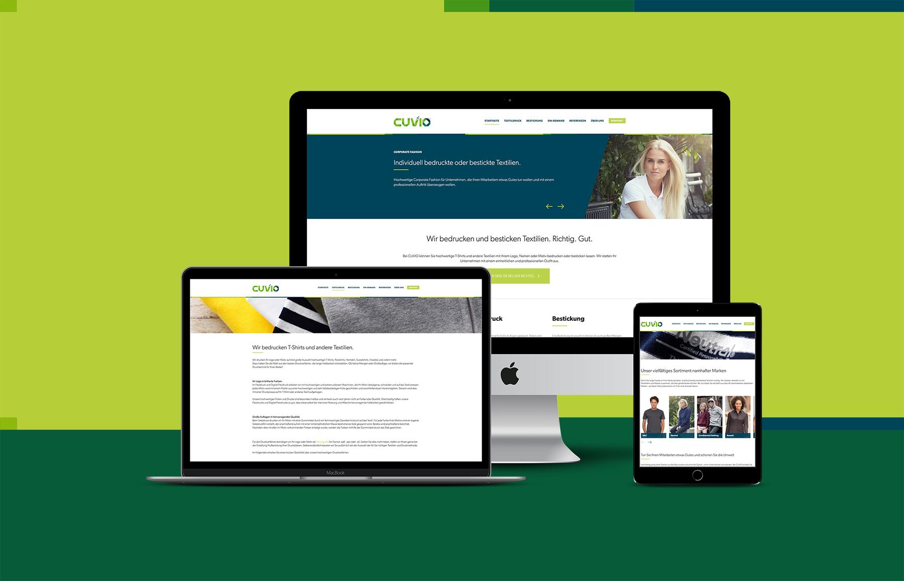 uk availability ff250 2b2de Neue Website für CUVIO - Werbeagentur in Soltau